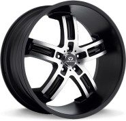 Фото диска Lorenzo 26 9x22 5/120 ET35 DIA 74.1 Black/Machined