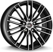 Фото диска MAK RAPIDE 8x18 5/112 ET50 DIA 57.1 Matt Black Red Stripe