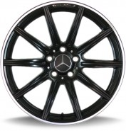 Фото диска MERCEDES D857 8x18 5/112 ET38 DIA 66.6 black matt