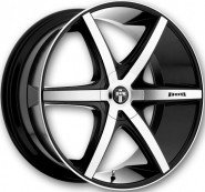 Фото диска MHT DUB Rio-6 8.5x18 5/110 ET38 DIA 72.6 Black/Machined