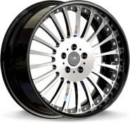 Фото диска MK Forged Wheels MK-XXXVIII Status 9.5x22 5/130 ET40 DIA 71.6 polished+black lip