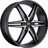 Фото диска MKW (Mi-tech) M106 7.5x18 5/112 ET40 DIA 73 Gloss Black/Machined Face