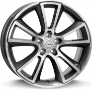 Фото диска OPEL W2504 MOON 8x18 5/115 ET46 DIA 70.2 anthracite polished