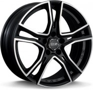 Фото диска OZ Racing ADRENALINA 7x17 4/108 ET25 DIA 75 MATT BLACK DIAMOND CUT