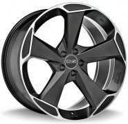 Фото диска OZ Racing Aspen 9x21 5/108 ET45 DIA 75 MATT BLACK DIAMOND CUT