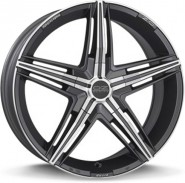 Фото диска OZ Racing DAVID 7x17 4/100 ET37 DIA 68 MATT GRAPHITE DIAMOND CUT