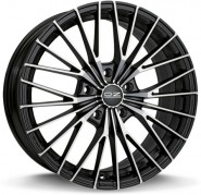 Фото диска OZ Racing EGO 7x17 4/100 ET42 DIA 68 MATT BLACK DIAMOND CUT