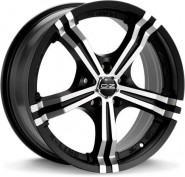 Фото диска OZ Racing POWER 7x17 4/108 ET25 DIA 75 MATT BLACK DIAMOND CUT