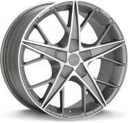 Фото диска OZ Racing QUARANTA 8x18 5/100 ET35 DIA 68 GRIGIO CORSA DIAMOND CUT