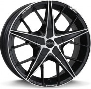 Фото диска OZ Racing QUARANTA 7x17 4/108 ET25 DIA 75 MATT BLACK DIAMOND CUT