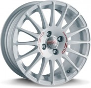 Фото диска OZ Racing SUPERTURISMO WRC 6.5x15 4/108 ET25 DIA 65.1 WHITE RED LETTERING