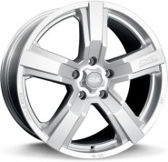 Фото диска OZ Racing VERSILIA 8x18 5/112 ET35 DIA 75 Matt Race Silver+Black Let