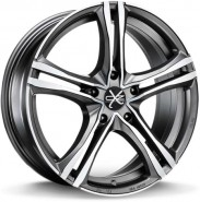 Фото диска OZ Racing X5B 8x19 5/120 ET40 DIA 79 MATT GRAPHITE DIAMOND CUT
