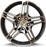 Фото диска PORSCHE W1050 PHILADELPHIA 8.5x19 5/130 ET0 DIA 71.6 anthracite polished