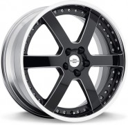 Фото диска REDBOURNE KNIGHT 9.5x20 5/120 ET32 DIA 72 Gloss Black Chrome Lip