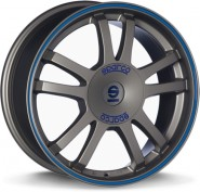 Фото диска Sparco Rally 7.5x17 5/114.3 ET45 d73.1 MATT SILVER TECH
