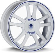 Фото диска Sparco Rally White+Blue Lip