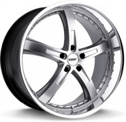 Фото диска TSW Jarama 8x18 5/108 ET40 DIA 72 Gloss Black Mirror Cut Lip