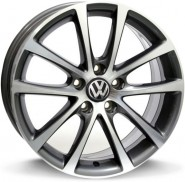 Фото диска VOLKSWAGEN W454 EOS Riace 8x18 5/112 ET45 DIA 57.1 anthracite polished